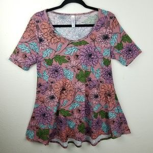 Lularoe Perfect T Floral Tee  Tunic Flowy Top XS